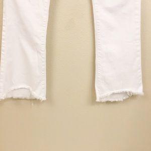 Current/Elliott Jeans - Current/Elliott Flip Flop Raw Hem White Jeans 31